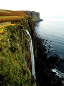 Waterfall of Kilt Rock, Scotland — Stock Photo