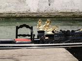 Part of a gondola in Venice, Italy — Stock Photo