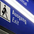 Illuminated sign to the exit - Lizenzfreies Foto