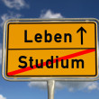 German road sign study and life — Foto de Stock