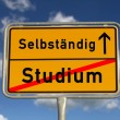 German road sign study and freelancer — Stockfoto