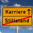 German road sign stagnancy and career — Stock Photo