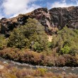 Waterfall in Tongariro National Park - Stock Photo