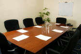 Boardroom table — Stock Photo
