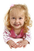 Little girl with a big smile — Stock Photo