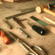 Stock Photo: Set of leather working tools