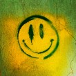 Stock Photo: Smiley on the wall