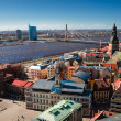 City panaram and view on a bridge in Riga - Stock Photo