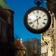 Stock Photo: Street clock, evening