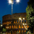 Colosseum and lantern - Stock Photo