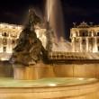 Piazza della Repubblica, fountain,night — Stock Photo