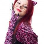 Beautiful cat woman — Stock Photo #5556831