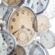 Stock Photo: Collage of old style clocks