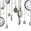 Pocket watches on chain isolated — Stock Photo #5557269