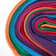 Clew of colorful cotton textile fabric — Stock Photo #5557304