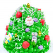 Cake like Christmas tree — Stock Photo