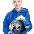 Doctor exam earth — Stock Photo