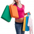 New mother shopping — Stock Photo