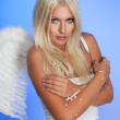 Beautiful angel freezing — Stock Photo #5558142
