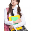 Puzzled schoolgirl — Stock Photo #5558233