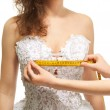 Постер, плакат: Measuring the breast size