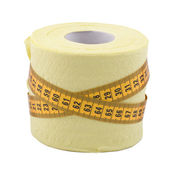 Centimetre and toilet paper — Stock Photo