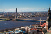 View on a bridge in Riga — Stock Photo