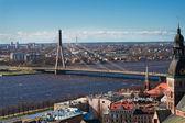 View on a bridge in Riga — Stock Photo