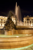 Piazza della Repubblica, fountain,night — Stock Photo