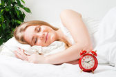 Just before alarm rang — Stock Photo