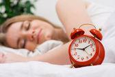 Alarm and sweet dreams — Stock Photo