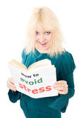 Happy woman know how to avoid stress — Stock Photo