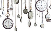 Pocket watches on chain isolated — 图库照片
