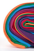 Clew of colorful cotton textile fabric — Stock Photo