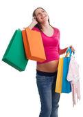 Nieuwe moeder winkelen — Stockfoto