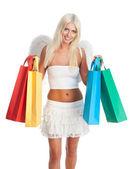 Blond woman shopping — Stock Photo