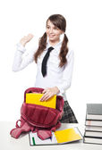 Collecting backpack — Stock Photo