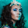 Mermaid with crown of corals — Stock Photo