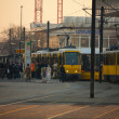 Morning rush hour in Berlin - Stock Photo