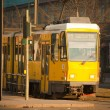 Royalty-Free Stock Photo: Yellow electric tram in Berlin