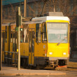Yellow electric tram in Berlin — Stock Photo #5858517