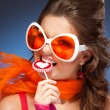 Woman with trendy glasses — Stock Photo #5858566