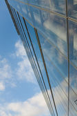 Sky and clouds reflects in from building — Stock Photo