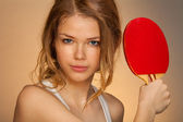 Playing ping pong — Stock Photo