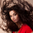 Hairs on the wind — Stock Photo