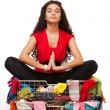 Shopping meditation — Stock Photo