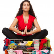 Stock Photo: Shopping meditation