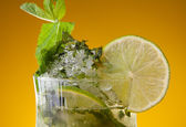 Close-up of mojito cocktail — Stock fotografie