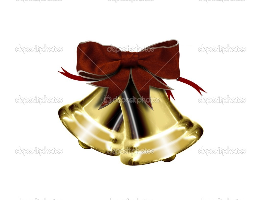 Christmas bells isolated — Stock Photo #5490152