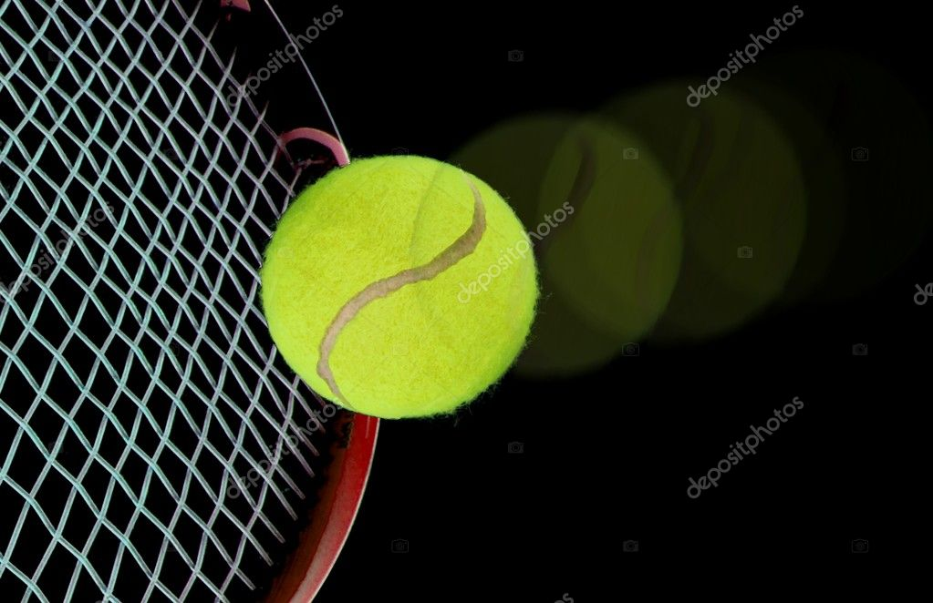 Tennis ball and racquet — Stock Photo #6330807